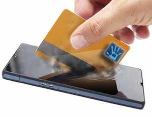 Cell Phone and Credit Card Image